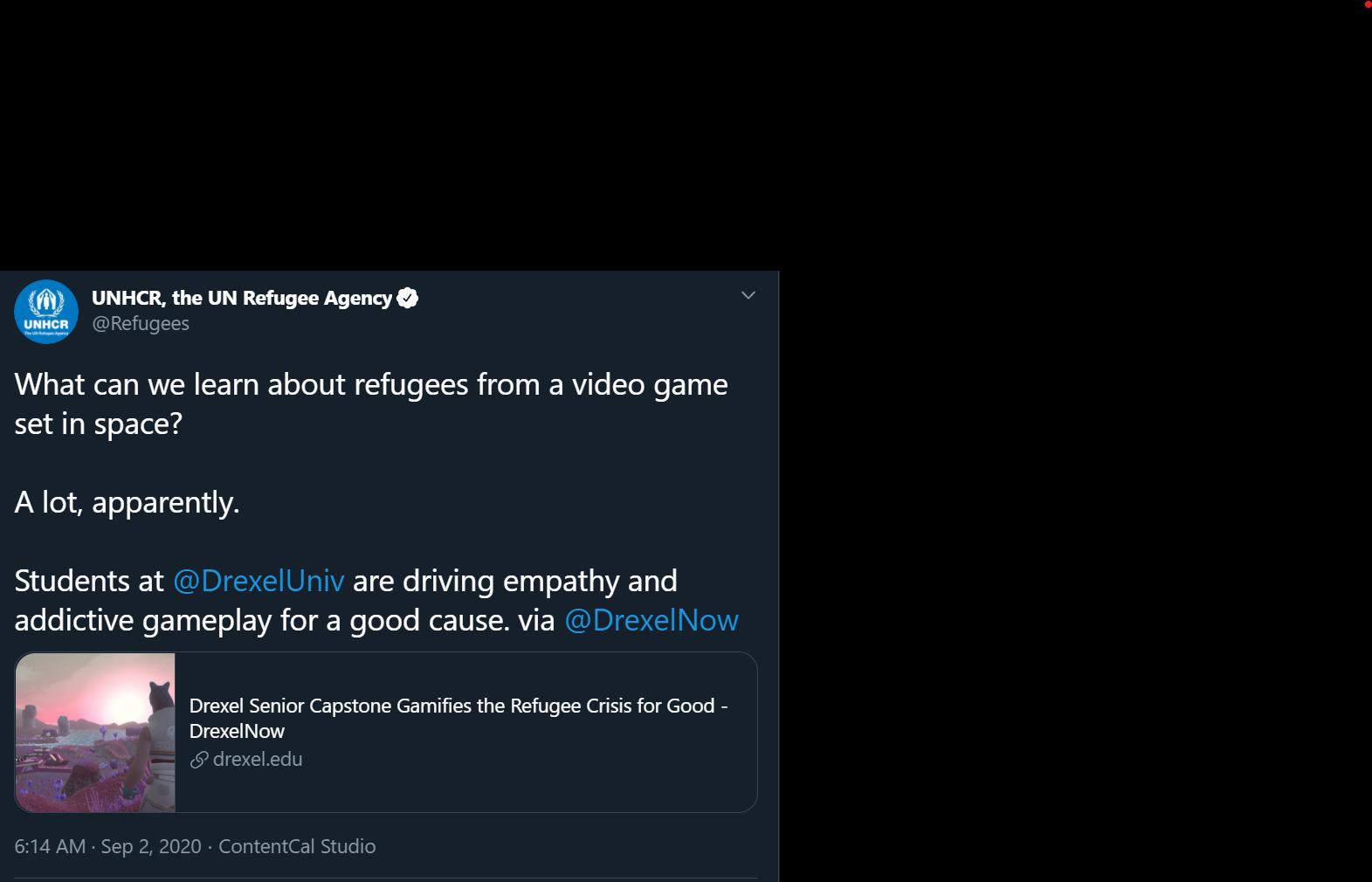 UNHCRTweet